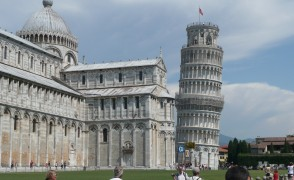 """The famous leaning tower of Pisa"""
