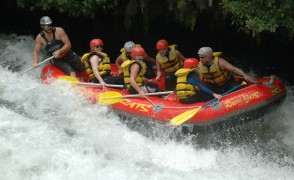 """White water rafting in New Zealand's north Island."""